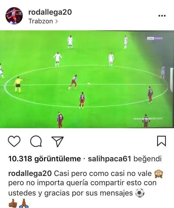 Rodallega o videoyu paylaştı ve bakın ne dedi