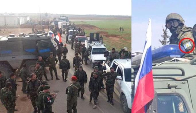 Rus askerleri PKK bağlantılı 'Askeri Konsey'in armasını aaktı