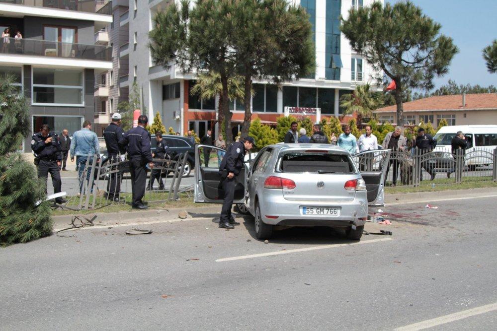 Samsun'da trafik kazası: 2 ağır yaralı