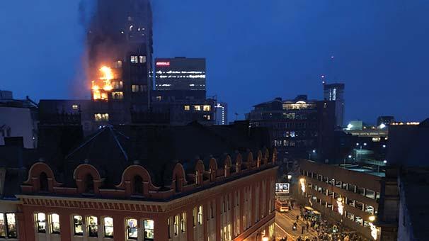 12 katlı binada yangın