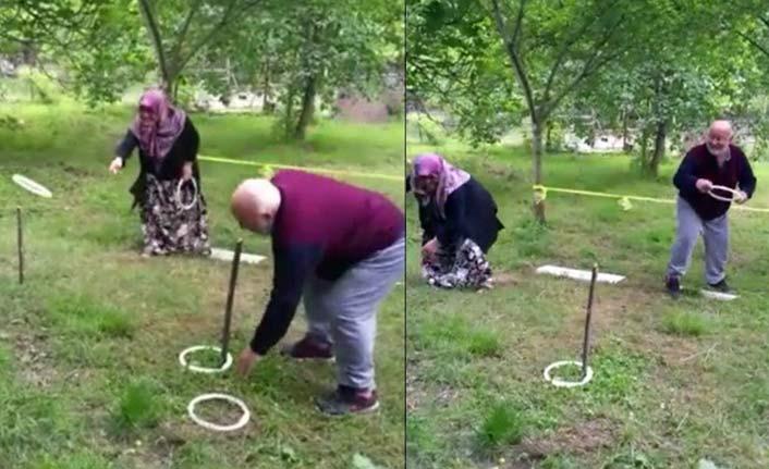 10 torun sahibi yaşlı çift, torunları için Survivor parkuru yaptı