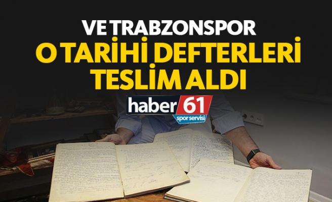 Karar defterleri Trabzonspor'a verildi