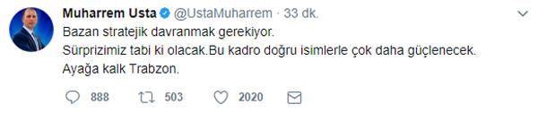 """Muharrem Usta: """"Sürprizlerimiz olacak"""""""