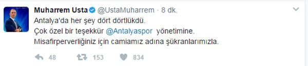 Başkan Usta'dan Antalya mesajı
