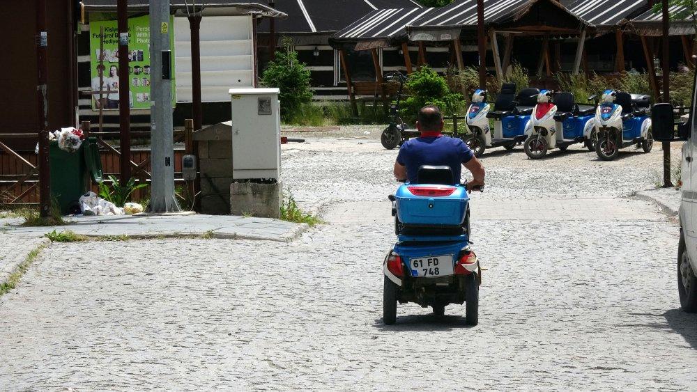 Uzungöl'de can alan elektrikli bisiklet sürücülerine denetimi talebi