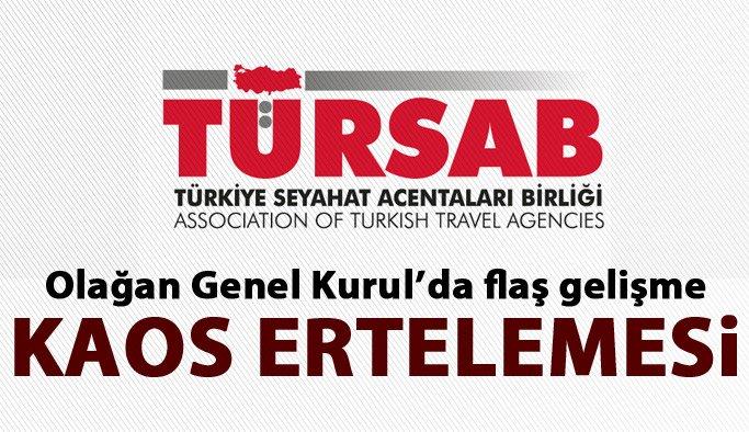 TÜRSAB Genel Kurulu için karar verildi