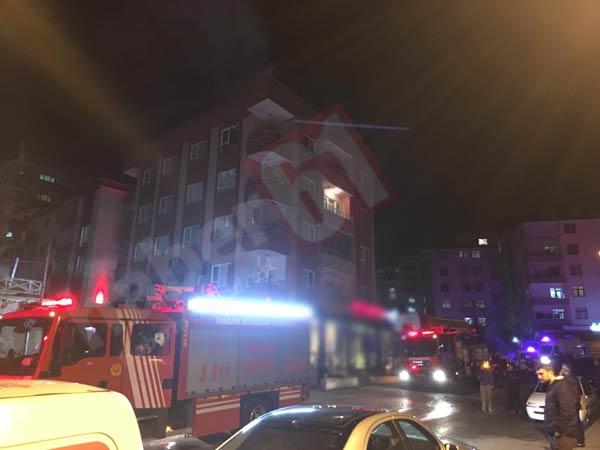 Trabzon'da yangın - Tüm bina boşaltıldı