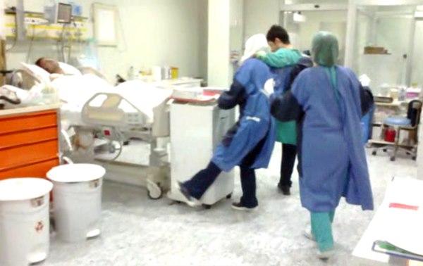 Hastaneden skandal görüntüler! Yoğun bakımda göbek atıp halay çektiler