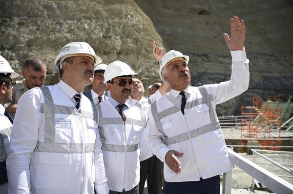 Yusufeli Barajın'da çalışmalar sürüyor