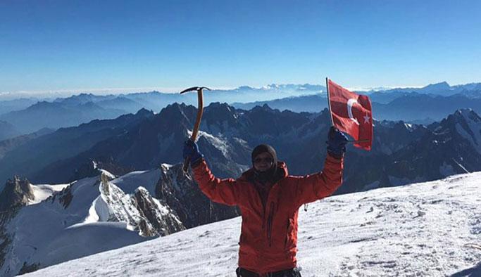 Gümüşhaneli dağcı Avrupa'nın zirvesinde!