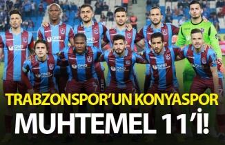 Trabzonspor'un muhtemel Konyaspor 11'i
