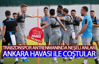 Trabzonspor antrenmanında neşeli anlar