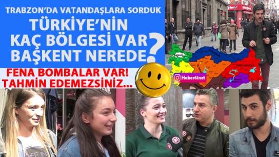 Trabzon'a sorduk: Türkiye'nin kaç bölgesi var?