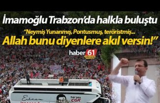Ekrem İmamoğlu'nun Trabzon mitingi