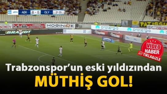 Eski Trabzonsporlu'dan müthiş gol