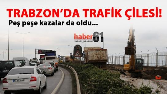 Trabzon'da trafik çilesi