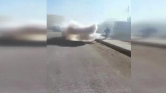 İntihar saldırısı sonrası yaşanan panik kamerada