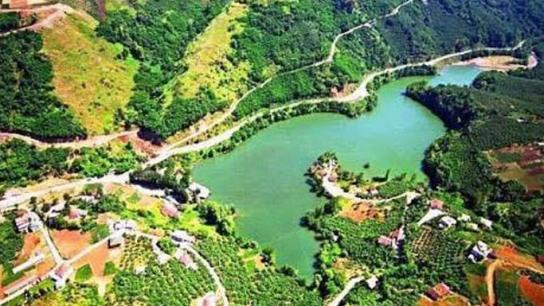 Sera Gölü'nün havadan görüntüsü