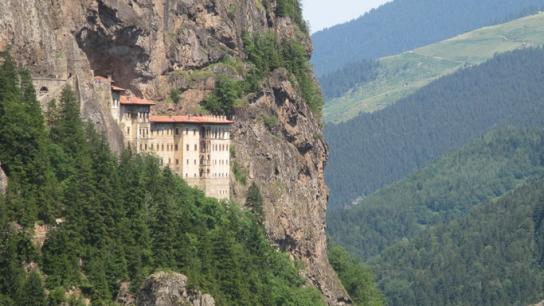 Sümela Manastırı'nda çalışmalar sürüyor