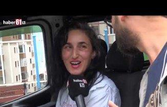 Trabzon'un ilk kadın dolmuş şoförü!