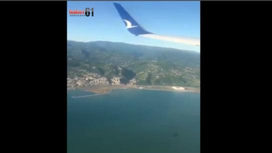 Uçağın Trabzon'dan kalkışı